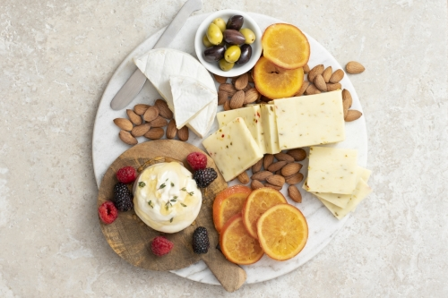 Sweet Citrus and Spice Cheese Board