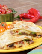 California Pepper Jack and Beef Quesadilla