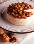 Caramelized Apple and Toasted Walnut Brie