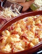 Cauliflower Gratin with Prosciutto
