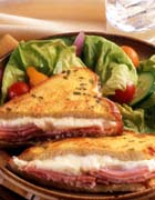 French-style Grilled Ham and Teleme Sandwich