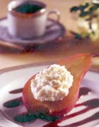 Port-Poached Pears and Ricotta